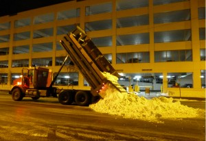 There was no snow on 4th Avenue, dozens of dump trucks worked through the night to make sure there was a winter wonderland waiting for fans and mushers on Saturday morning