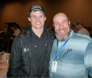 Me with Dallas Seavy, last years Iditarod winner and the youngest winner in Iditarod history