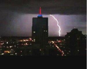 Lightening strike captured from my balcony